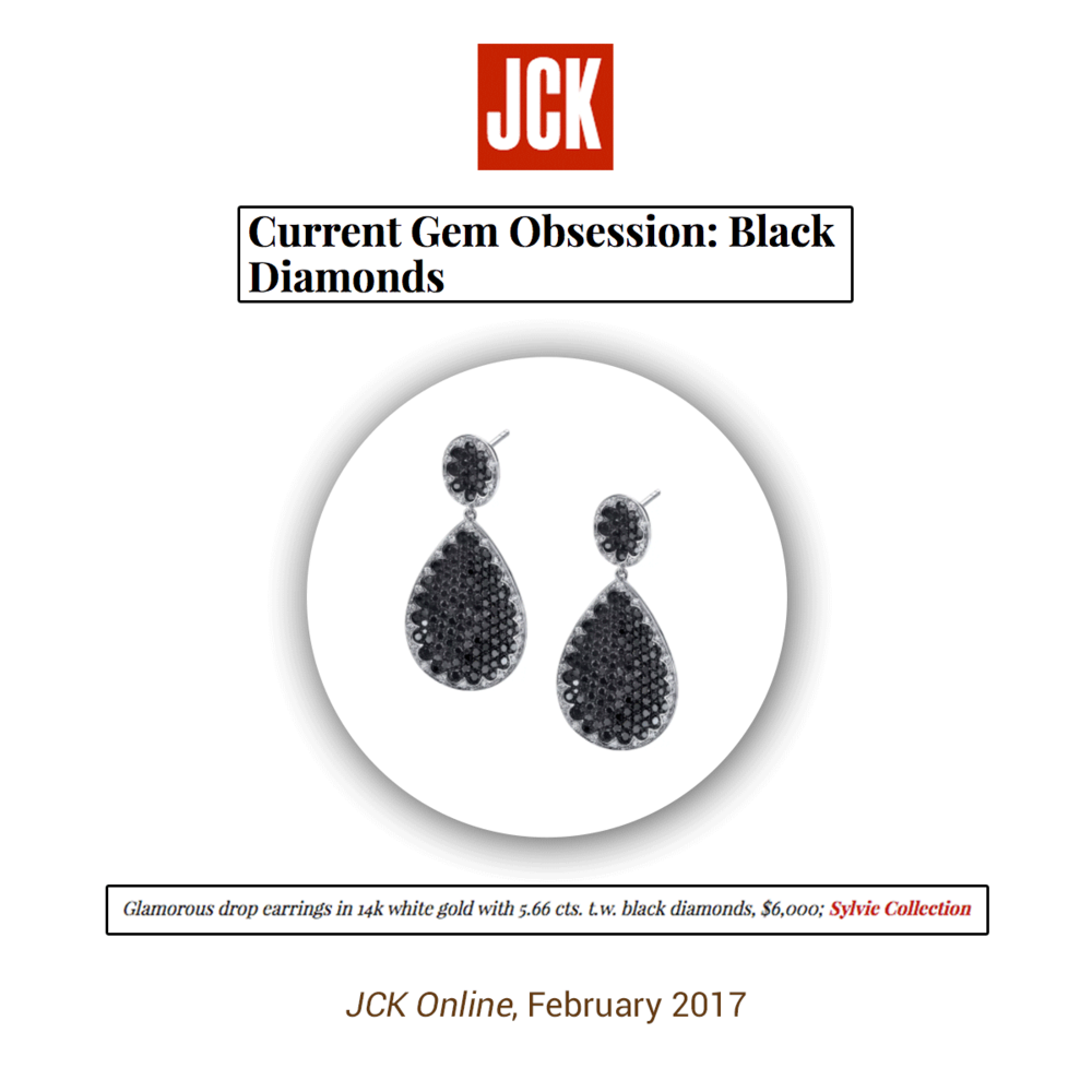 The Sylvie Collection was featured in JCK for their gorgeous black diamond earrings