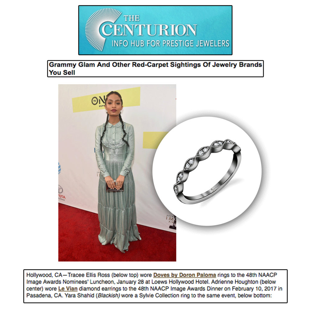 Centurion noticed actress Yara Shahid wearing the Sylvie Collection to the 48th NAACP Image Awards.