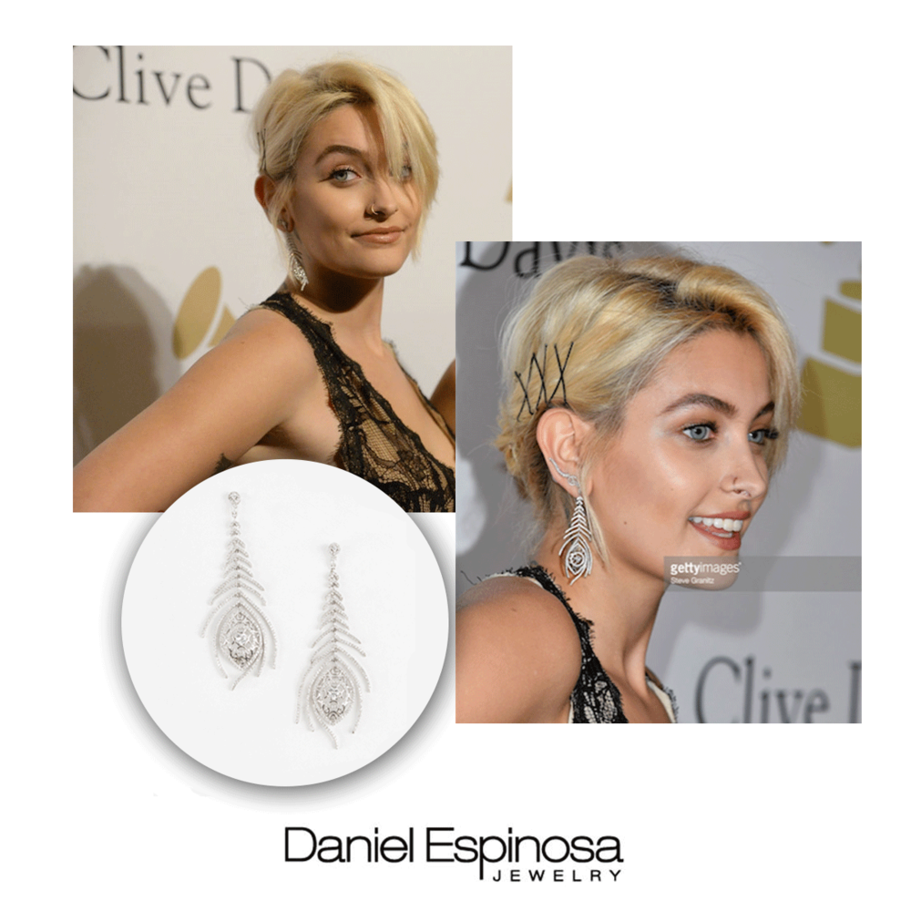 Paris Jackson also wore Daniel Espinosa earrings to help complete her Grammy look.