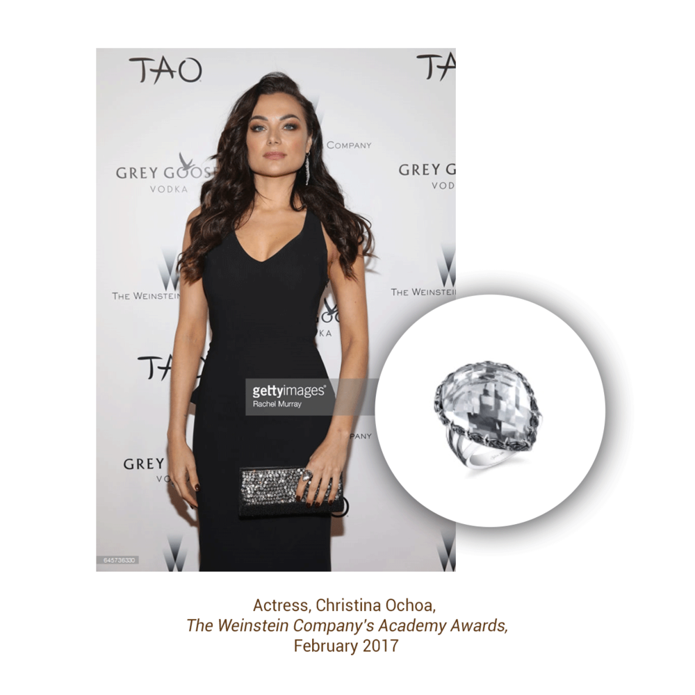 It was easy to spot this dazzling ring from the Sylvie Collection on Christina Ochoa!