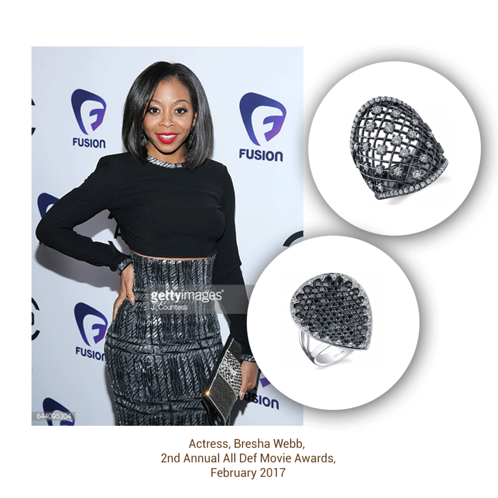 Black and Beautiful, Bresha Webb wore the Sylvie Collection to the 2nd Annual All Def Movie Awards!