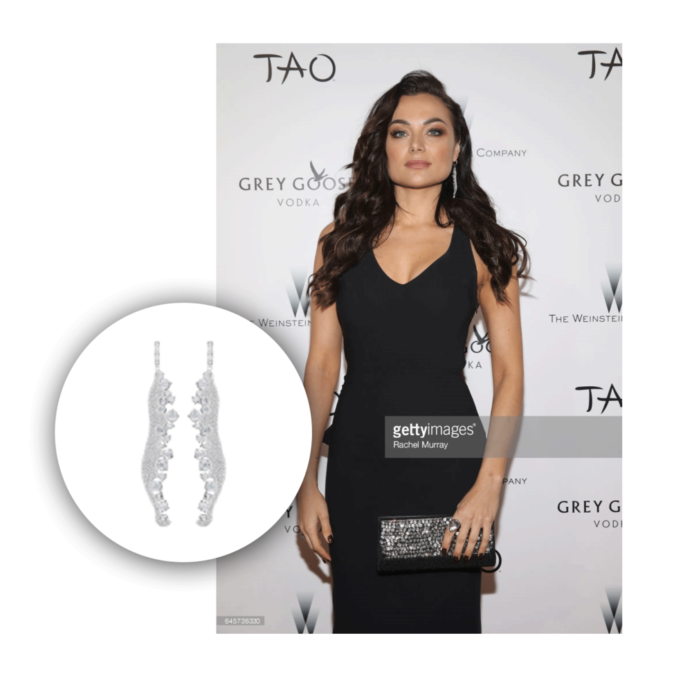 Christina Ochoa was also seen wearing Michael John Jewelry earrings which she slayed the look.