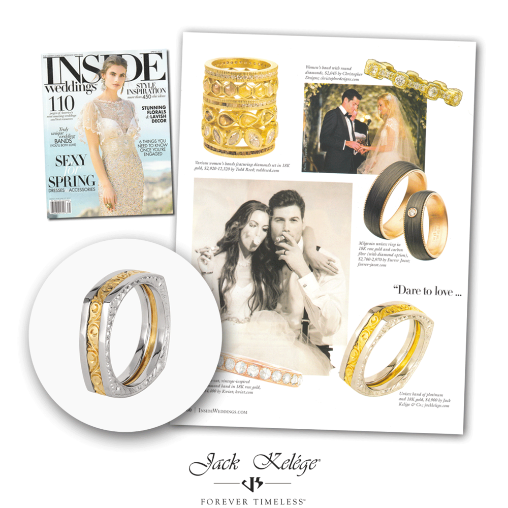 We're stoked to see that Jack Kelége was featured in Inside Weddings' Spring 2017 issue!