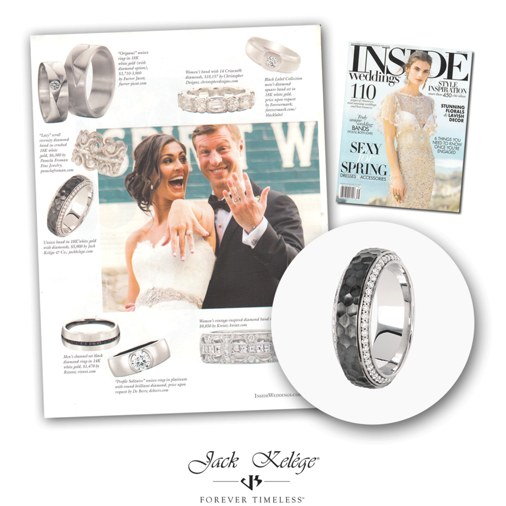 Jack Kelége was featured not once but twice in the same issue of Inside Weddings.
