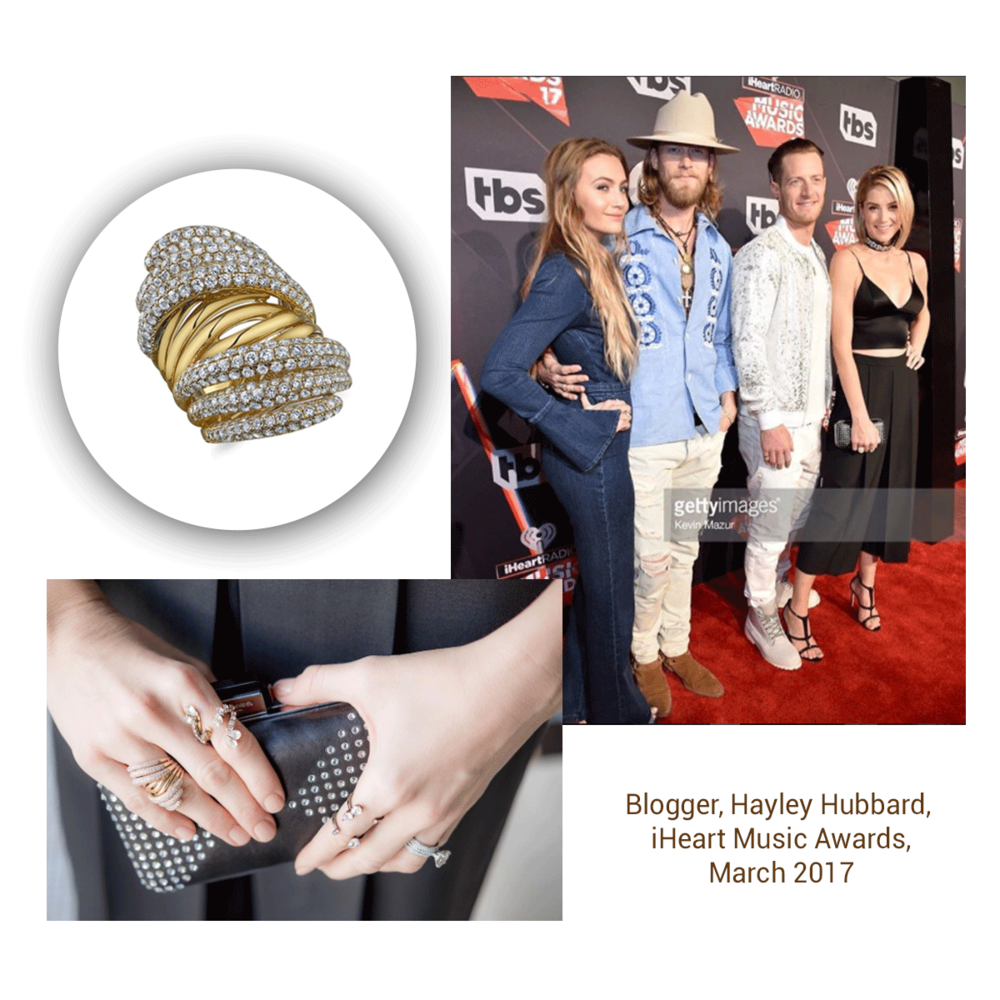 Talk about rocking the red carpet! Hayley Hubbard rocked this ring from the Sylvie Collection at the iHeart Music Awards.