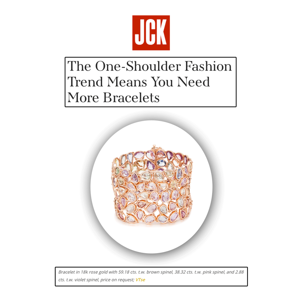 JCK Online featured Vtse's beautiful rose gold bracelet, just in time for spring.