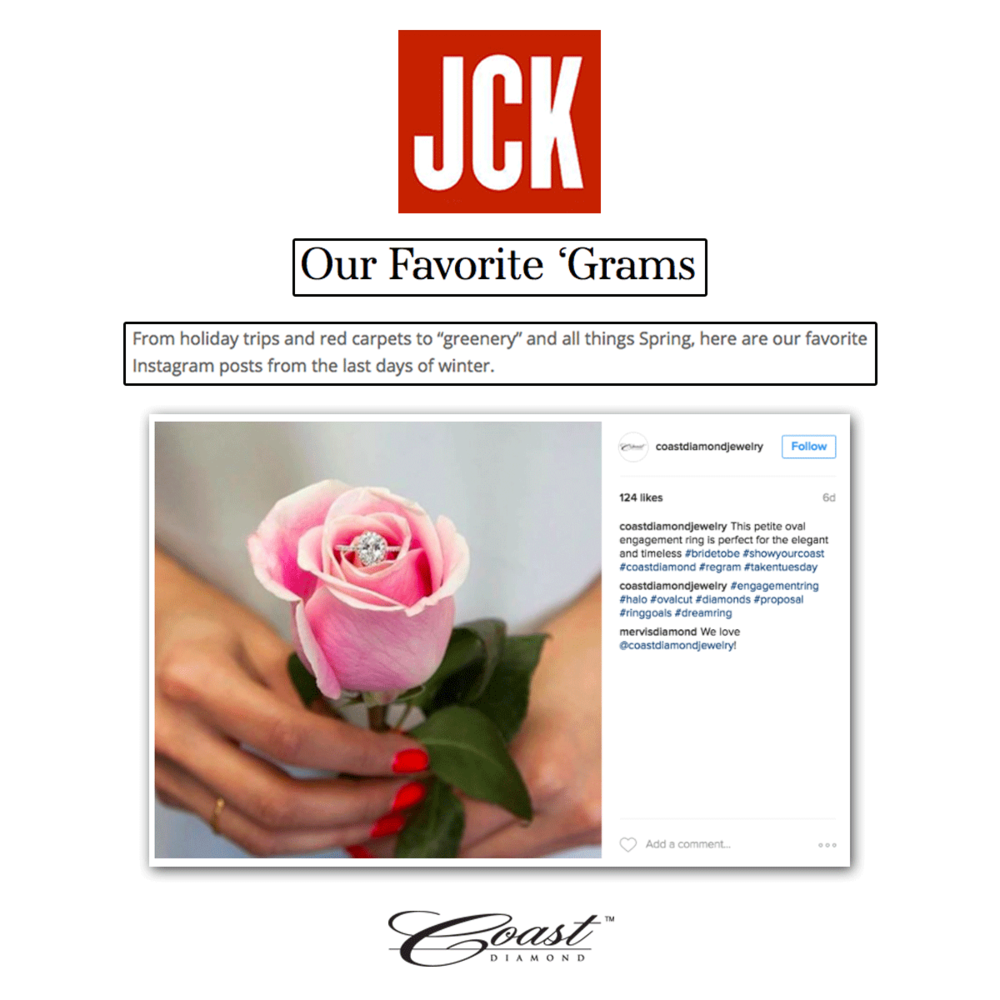 We're excited to see that JCK loves Coast Diamond's Instagram posts and featured them in their latest article!