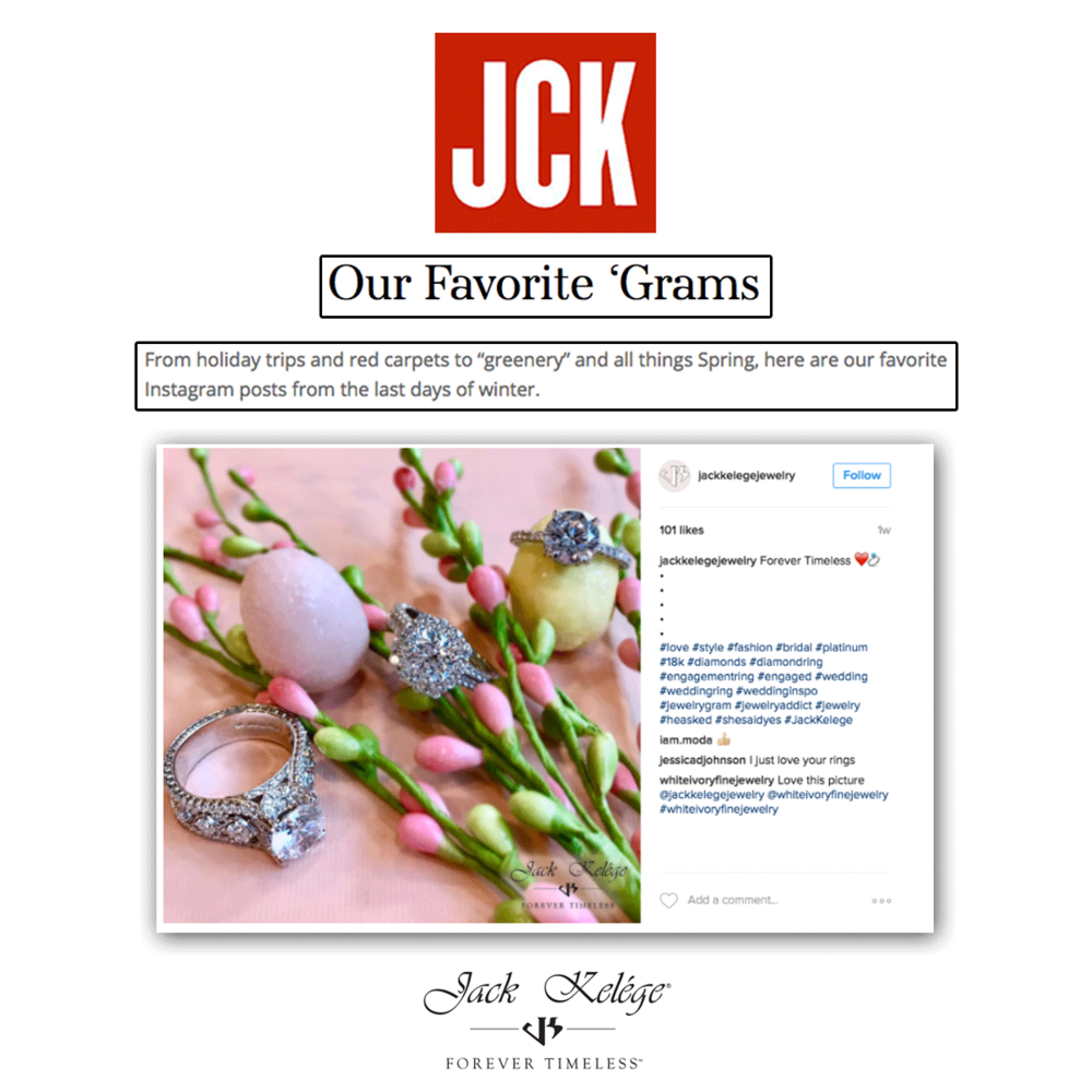 We're also thrilled to see that JCK featured Jack Kelége as their favorite Instagram posts too!
