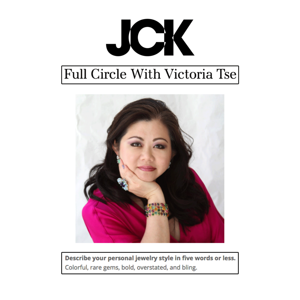 Our favorite bold and colorful designer, Vtse had a Full Circle feature with JCK this week! Congratulations Victoria!