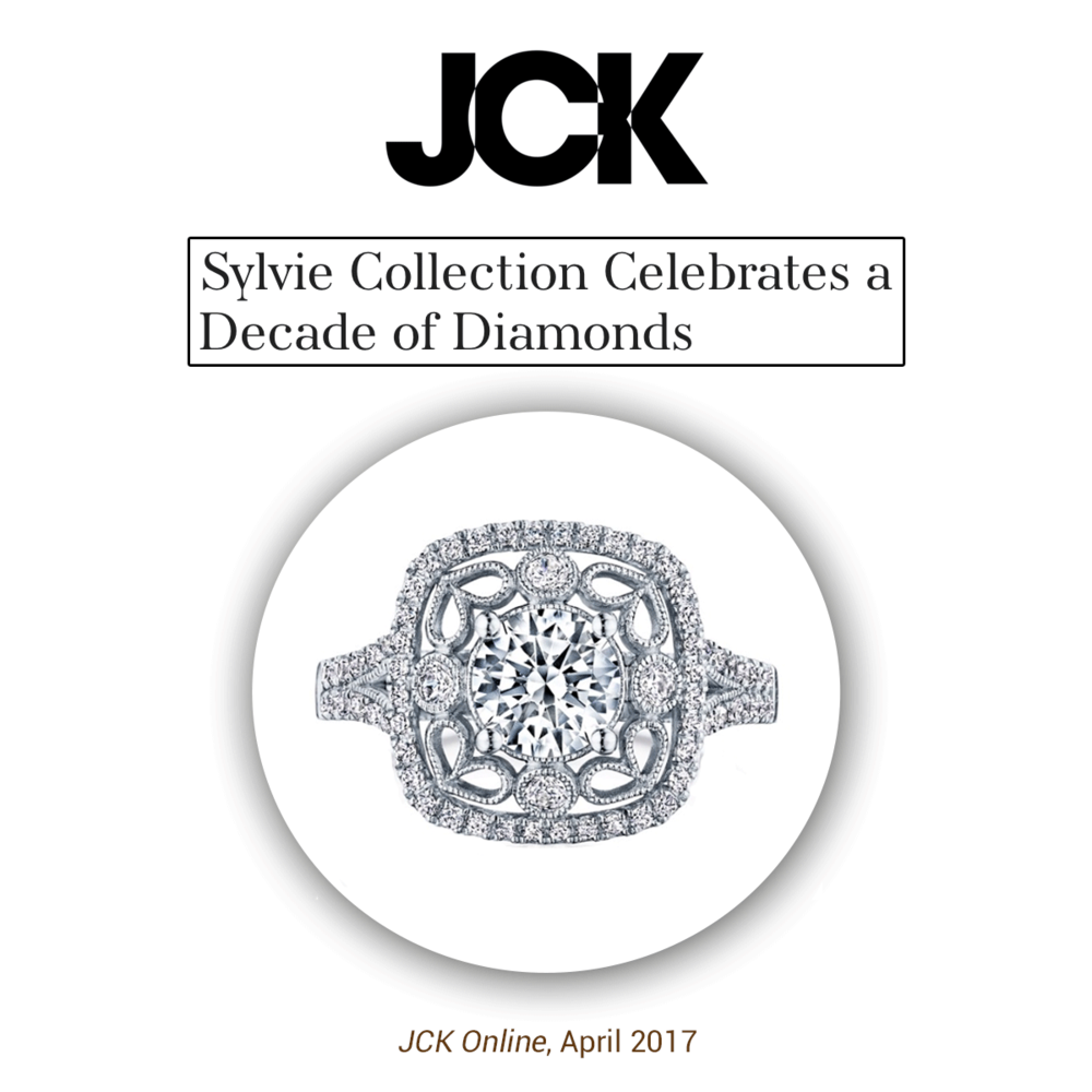 Dazzling as always, Sylvie and her Decade of Diamonds collection is all the talk at JCK!