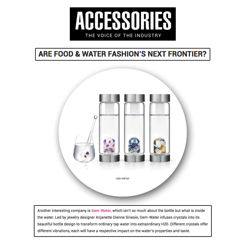 Gem-Water is making waves in the industry by getting another feature in Accessories!