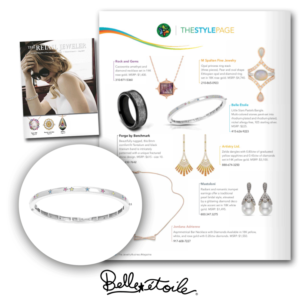 This adorable bracelet from Belle Etoile was featured in this month's issue of Retail Jeweler.