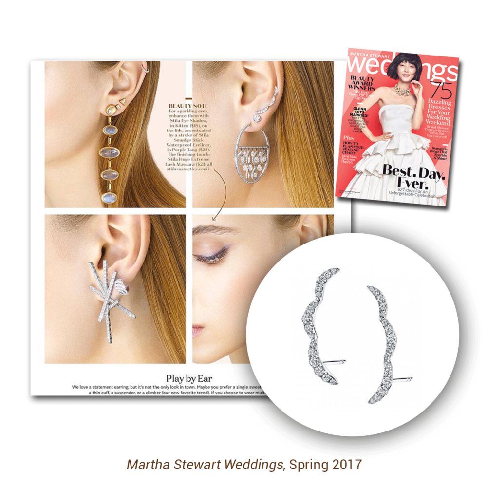 Ear climbers are definitely in this season, find your pair at the Sylvie Collection website.
