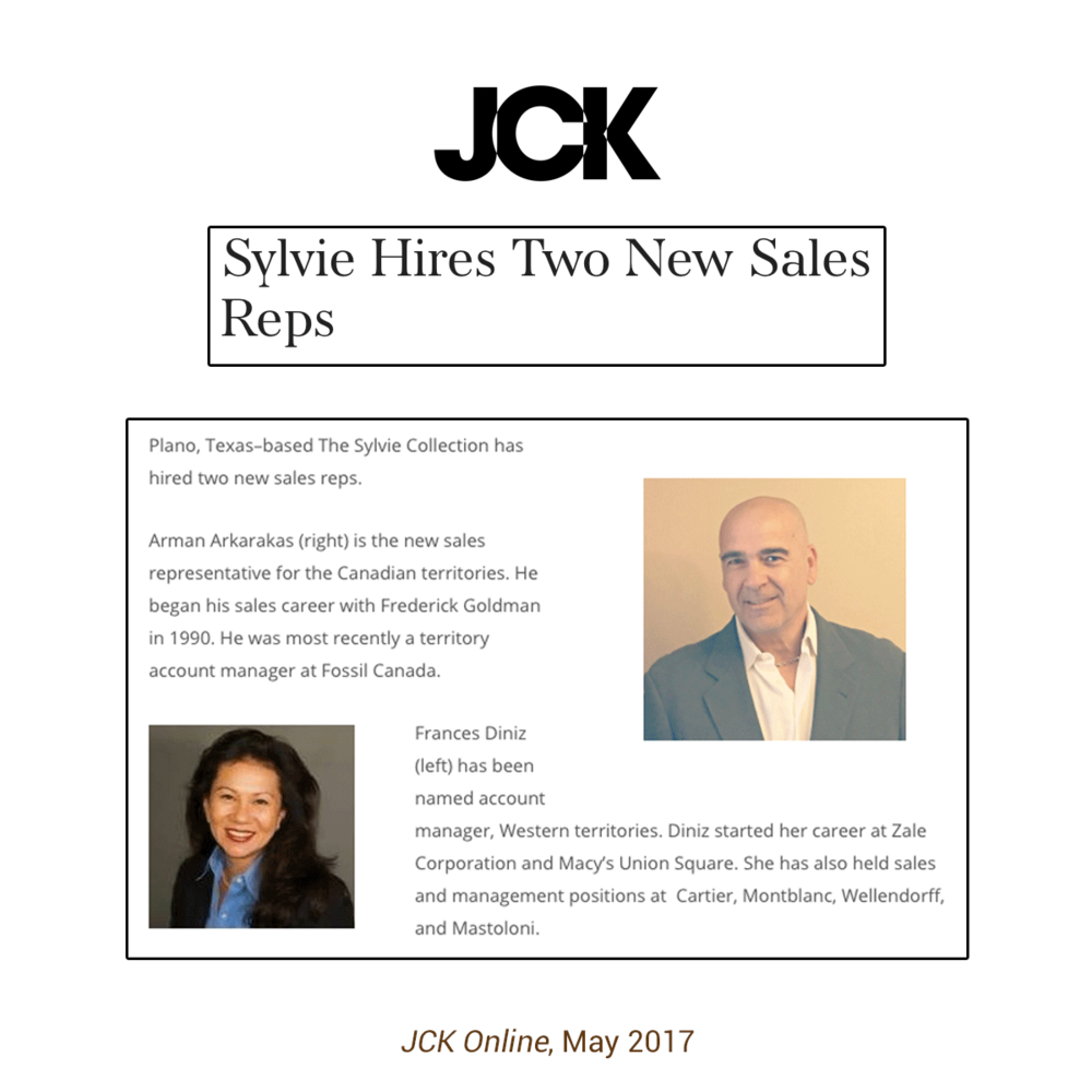 The Sylvie Collection continues to grow their business by adding two new sales representatives to their team!