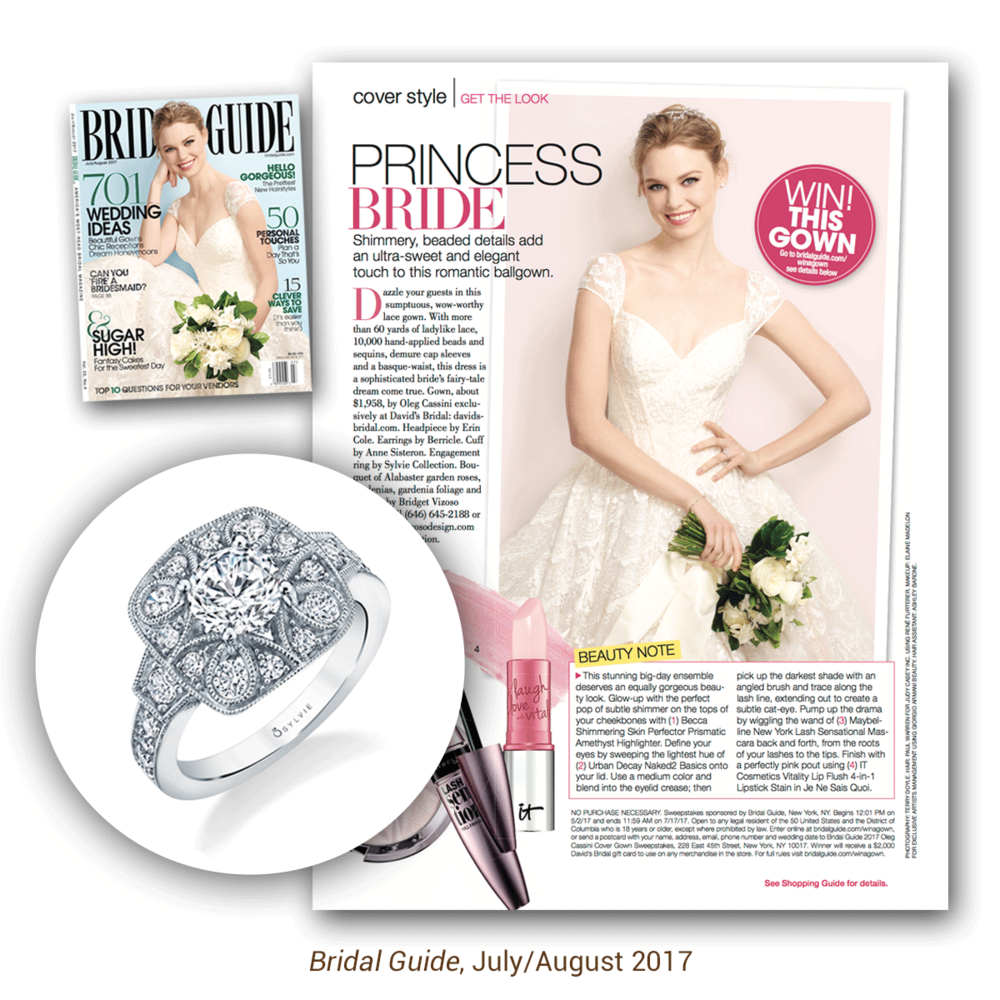 Looks like Bridal Guide is as much in love with this retro inspired ring from the Sylvie Collectionas we are!