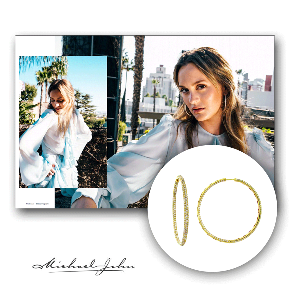 Leighton Meester looking fabulous as ever in Michael John Jewelry in the latest issue of Bello Magazine!