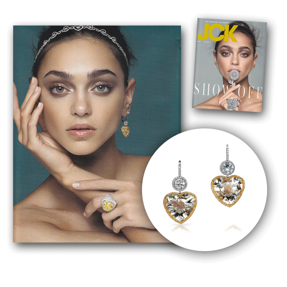 We're in love with this spread in the latest issue of JCK Magazine featuring the most dazzling earrings from VTse!