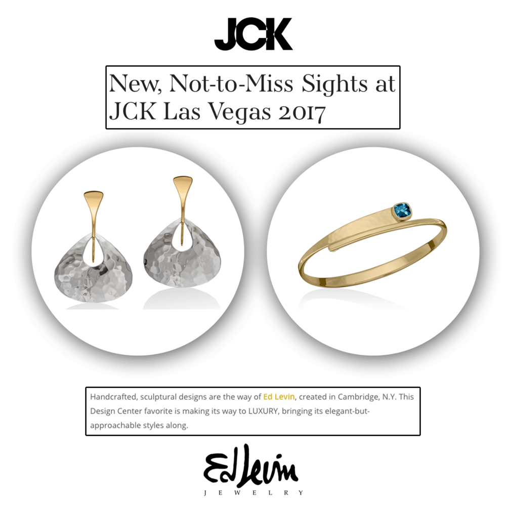 JCK is totally right, Ed Levin pieces are something you don't want to miss if you're going to the JCK LaS Vegas show!
