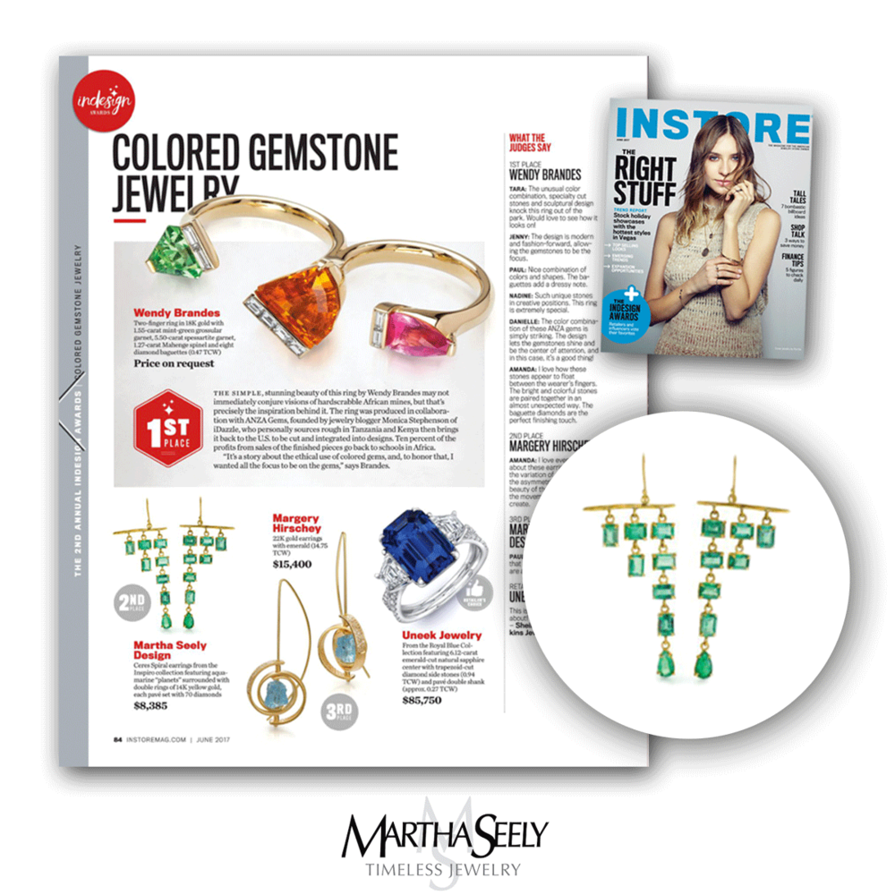 Congratulations to Martha Seely for getting 2nd in the Colored Gemstone Jewelry category!
