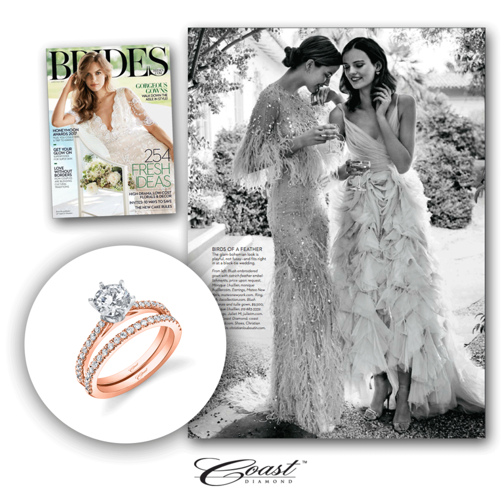 Coast Diamond always gets the most beautiful features in Brides Magazine, don't you agree?
