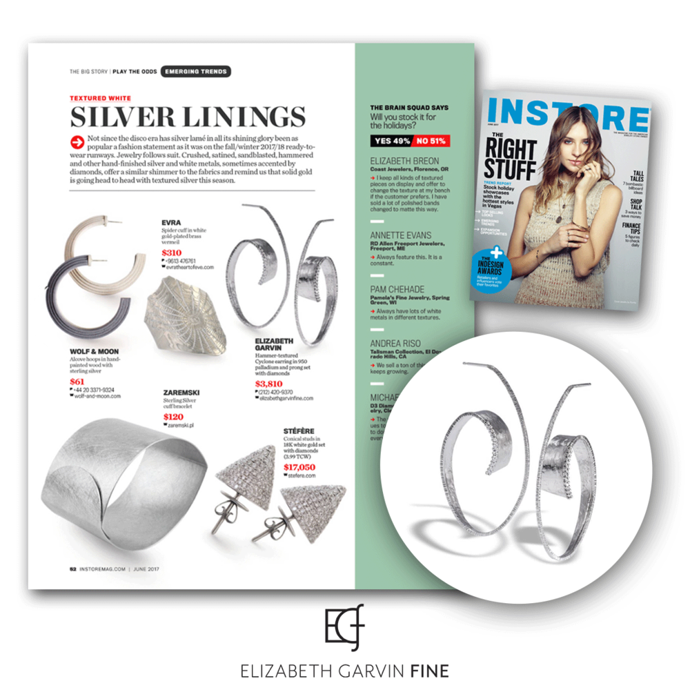 Another SPS brand, Elizabeth Garvin was also featured in the latest issue of INSTORE!