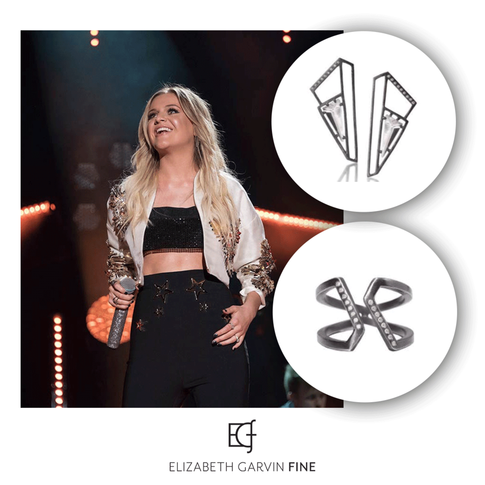 Singer, Kelsea Ballerini was spotted wearing Elizabeth Garvin jewelry at the CMT Awards this past weekend!