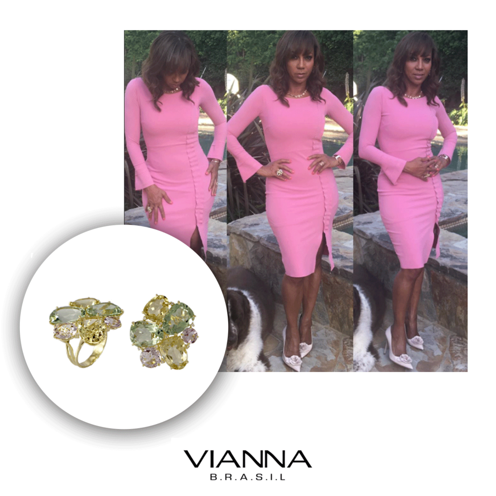 Holly Robinson Peete knows how important color is, so of course she chose to wear VIANNA BRASIL to her luncheon this past weekend.
