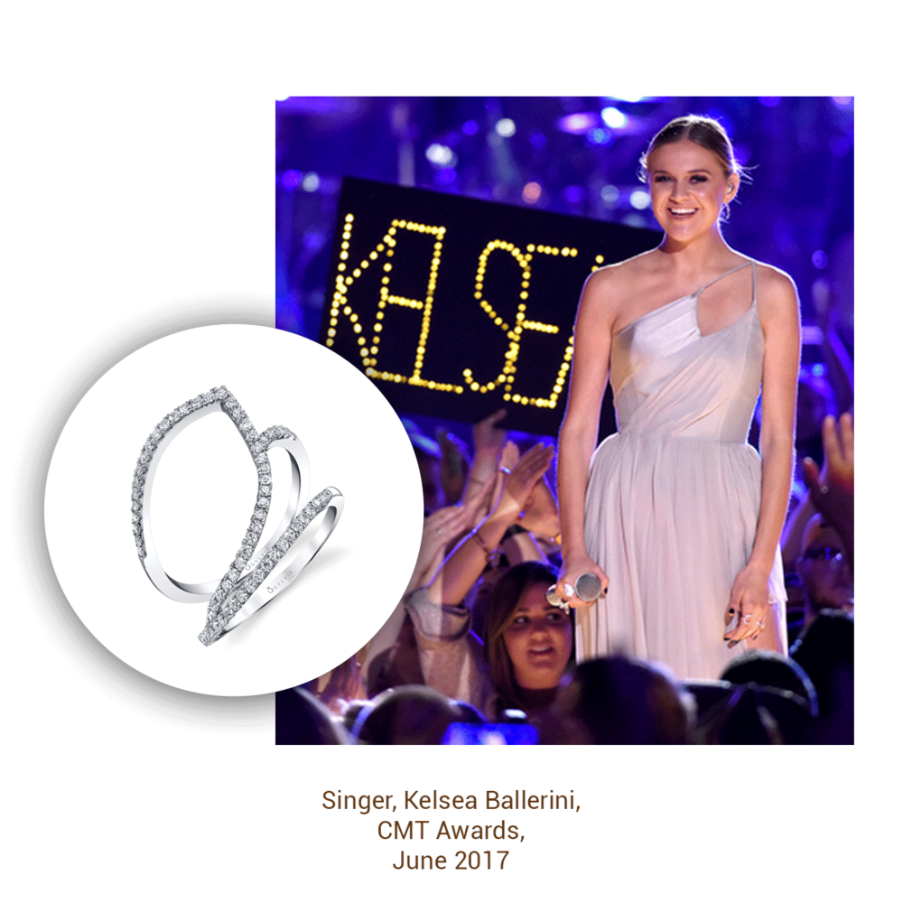 One performance later, and Kelsea is looking stunning as ever wearing a ring from the Sylvie Collection!