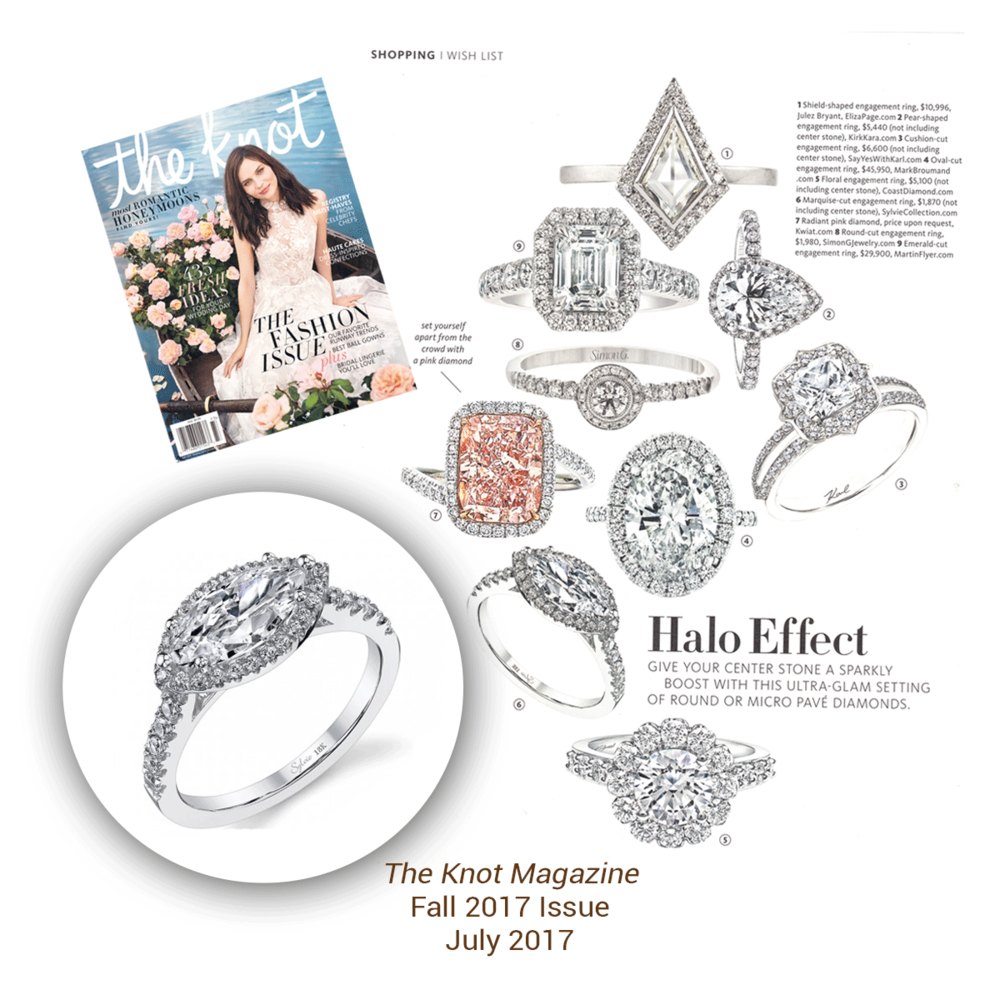 What a stunner! This Sylvie Collection diamond ring shinned bright in the latest issue of The Knot magazine.
