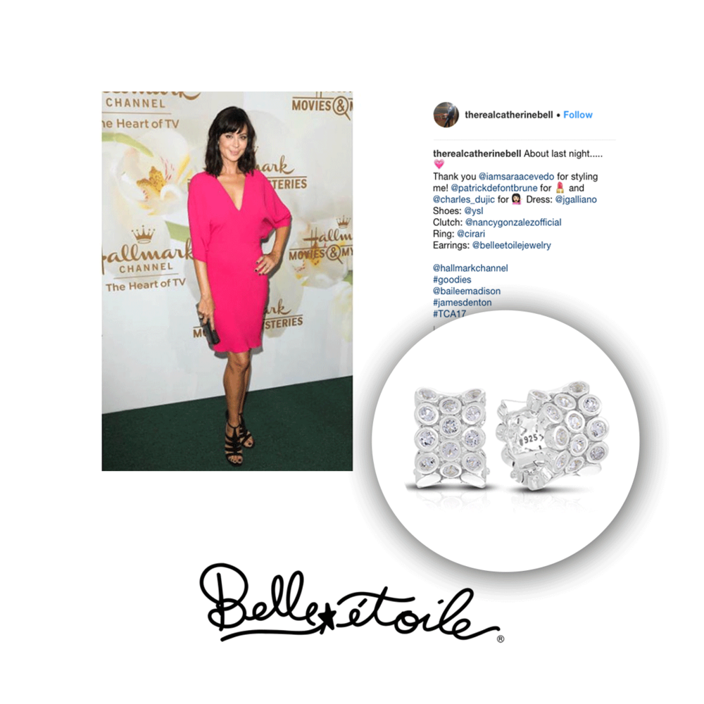 Catherine Belle looked beautiful in these Belle Etoile earrings.