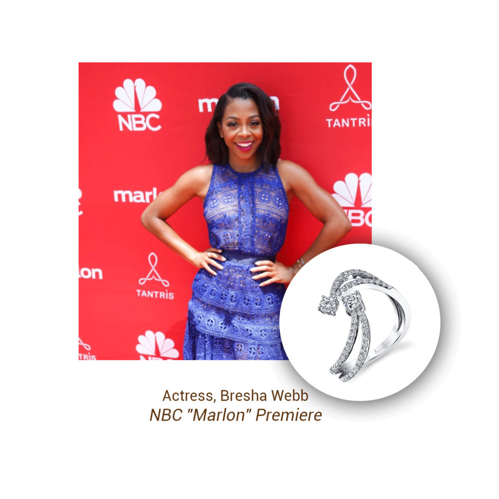 "Actress, Bresha Webb looked sweet wearing Sylvie Collection at the NBC ""Marlon"" premiere."