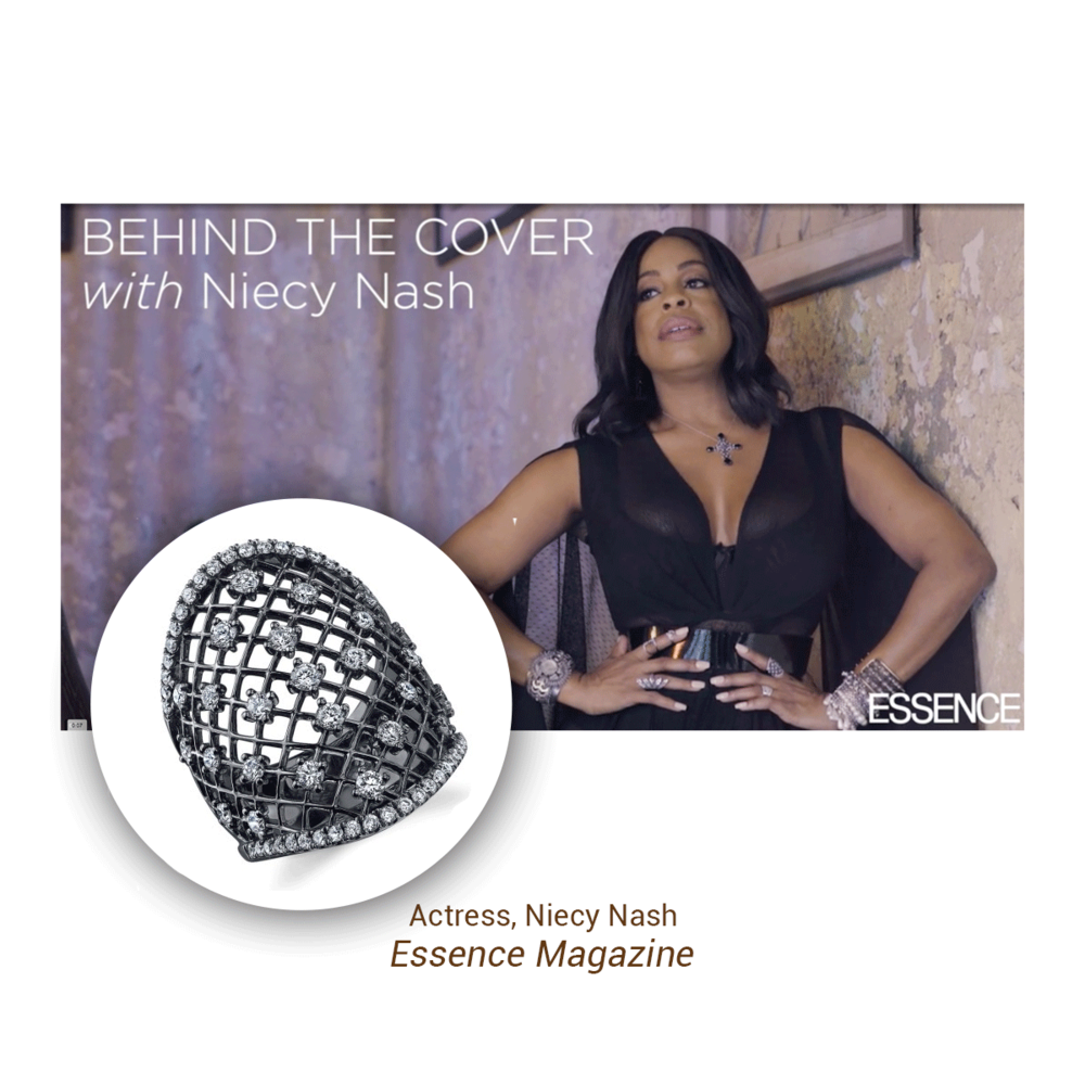 Niecy Nash stunned in a Sylvie Collection ring during her Behind The Cover interview for Essence Magazine September issue.