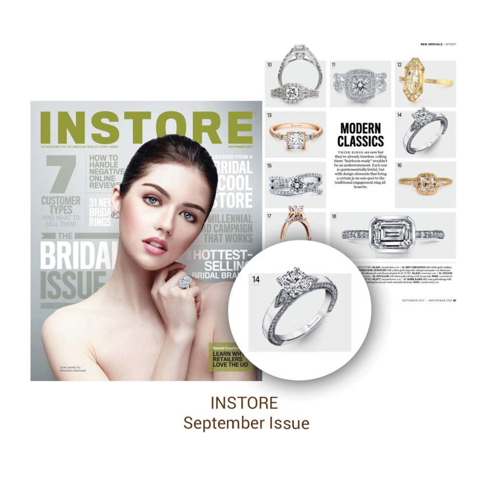 This Sylvie Collection ring was featured in the INSTORE Magazine September issue.