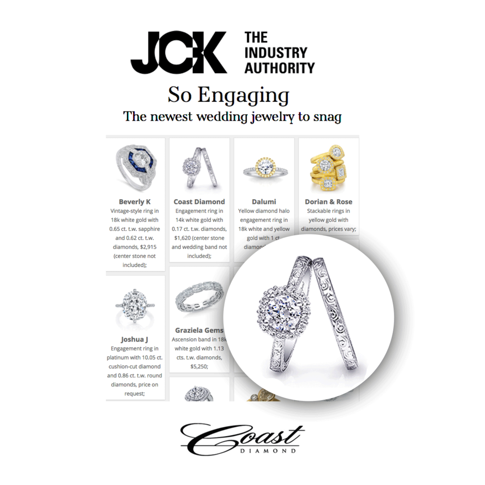 JCK Las Vegas Insider featured this stunning Coast Diamond ring in their engagement ring issue.