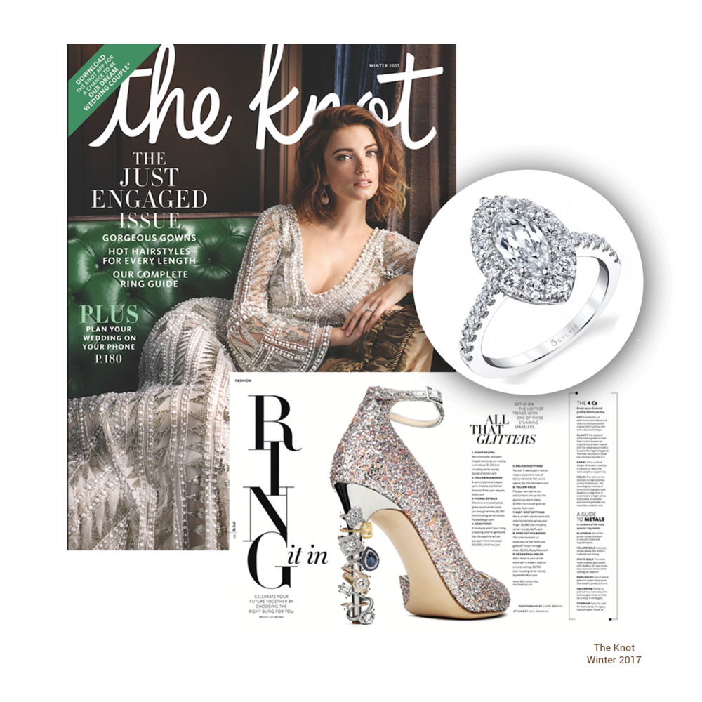 This stunning Sylvie Collection ring shinned bright in the latest Winter issue of The Knot Magazine.