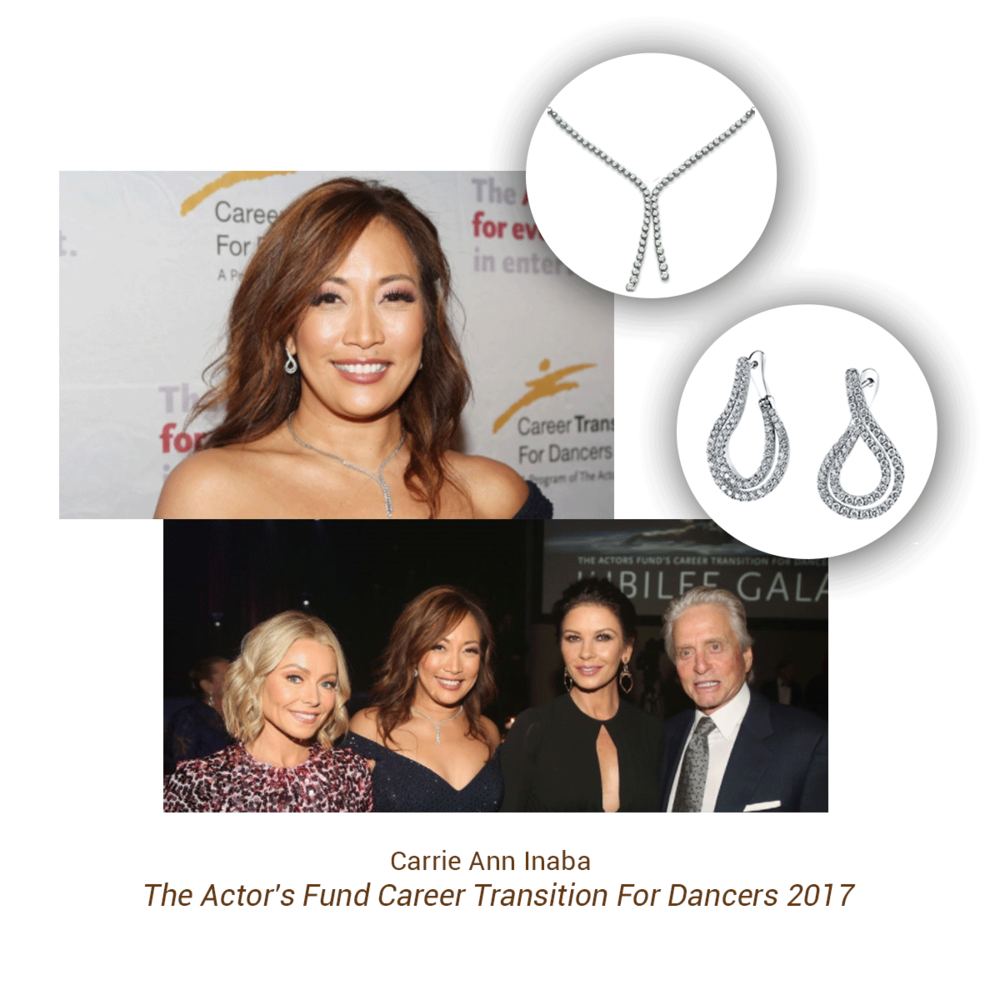 Carrie Ann Inaba wore Sylvie Collection when being honored at the The Actor's Fund Career Transition For Dancers 2017 Jubilee Gala in New York.