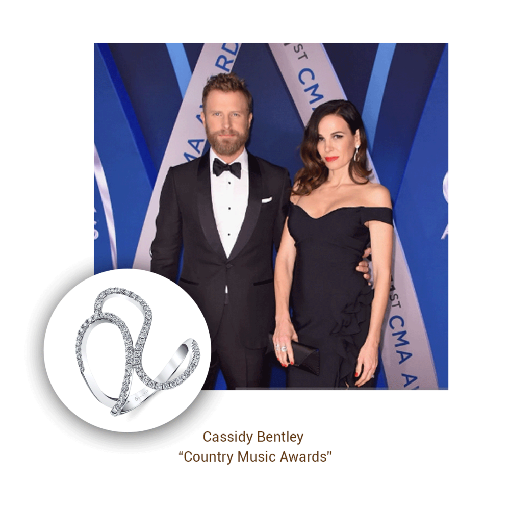 Cassidy Bentley looked stunning wearing Sylvie Collection on the CMA carpet with her husband Dierks Bentley, who was nominated for Male Vocalist of the Year.