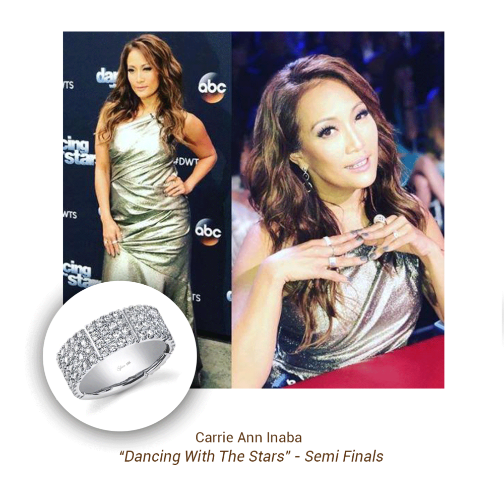 "Carrie Ann Inaba wore Sylvie Collection as part of her look for ""Dancing With The Stars"" - Semi Finals night."