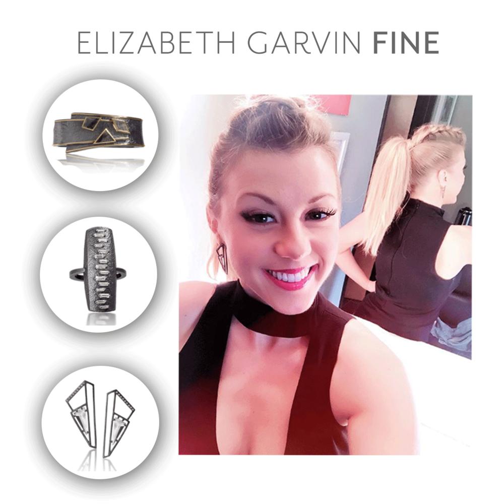 """Jodie Sweetin wore Elizabeth Garvin Earrings, Bangle & Ring as part of her look co-hosing """"The Talk"""""""