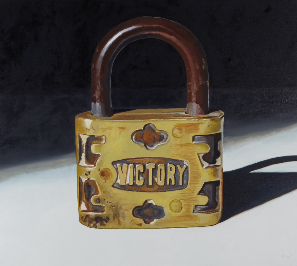 Rachel Maxi, Victory Lock, Oil on Canvas