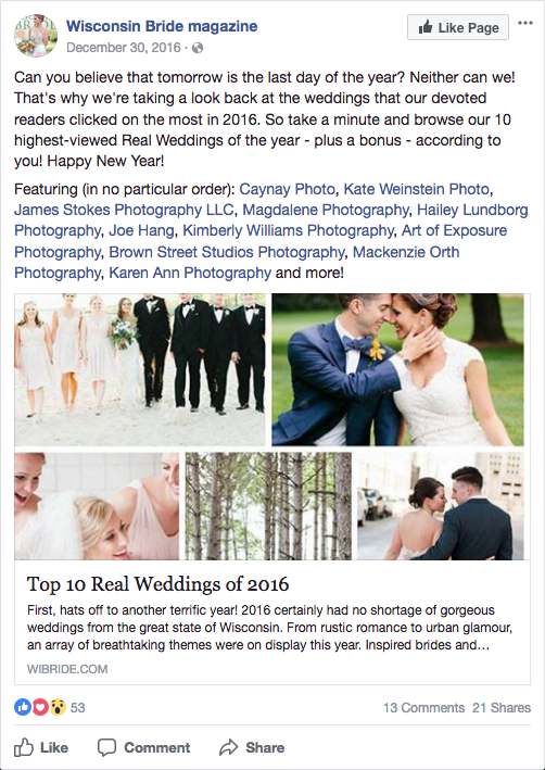 N Martin - Wisconsin Bride - Facebook Post - Top of 2016.png