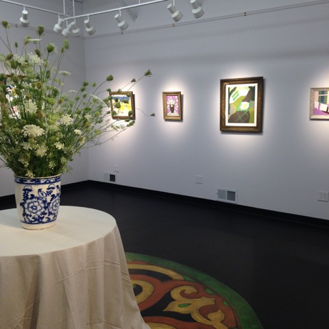 A recent exhibit of the work of Theresa Drapkin, of Hullabaloo sponsor Kingston Wine Co.