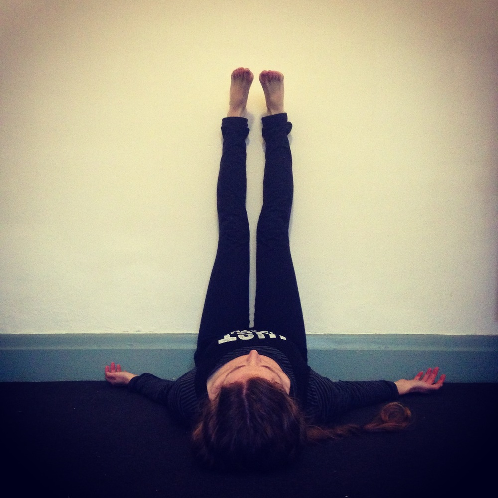 Legs up the wall is another great pose to do this witnessing exercise. Take a load off!