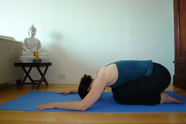 balasana - yoga for tired legs