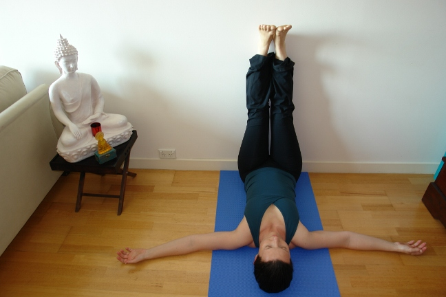 viparita karani - yoga for tired legs