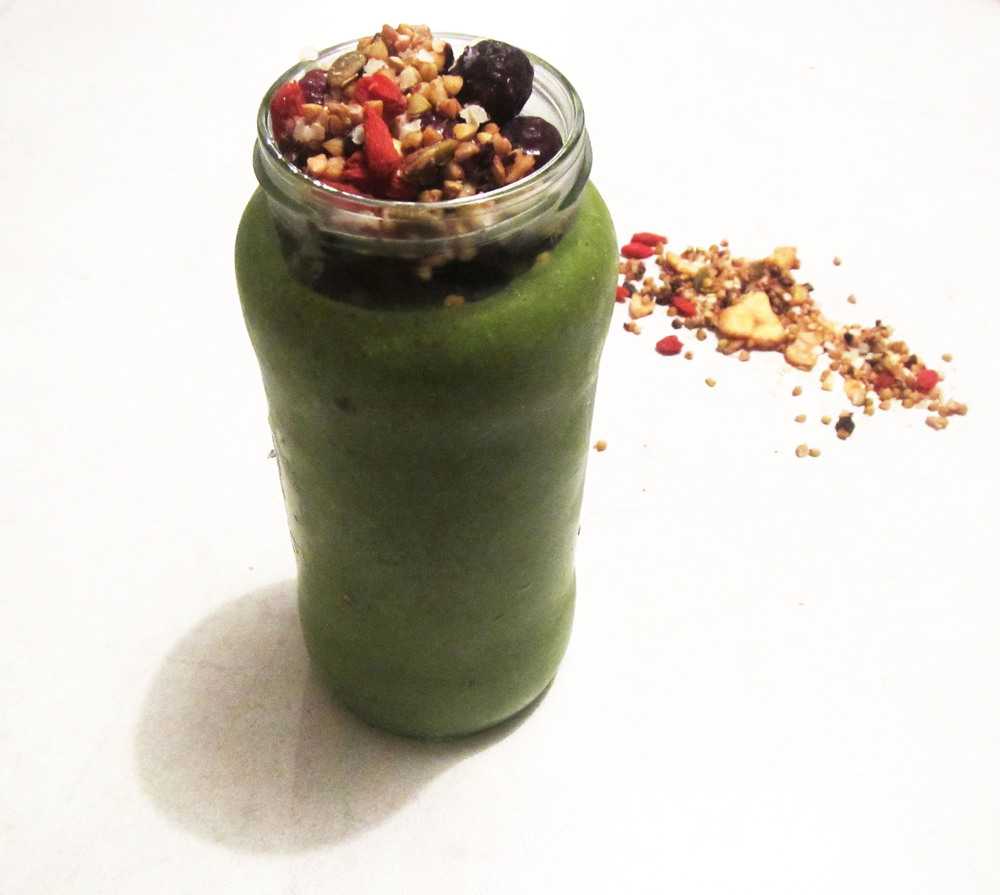 This is our current favourite green smoothie - visit  Nice Asana Wellbeing  for the recipe.