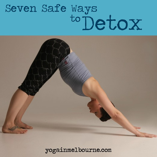 Down Dog pose is an inversion which will help your lymph drain. Hello detox!