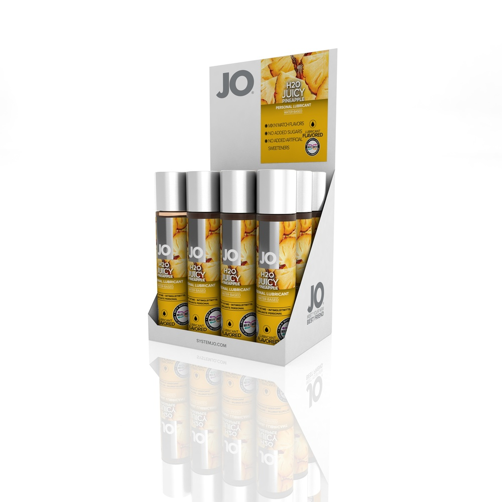 10122 - JO H2O FLAVORED LUBRICANT - JUICY PINEAPPLE - 1fl.oz 30mL (MOQ 12 units - Includes Counter Display).jpg