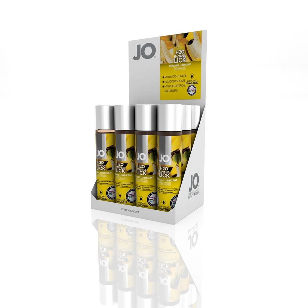10123 - JO H2O FLAVORED LUBRICANT - BANANA LICK - 1fl.oz 30mL (MOQ 12 units - Includes Counter Display).jpg