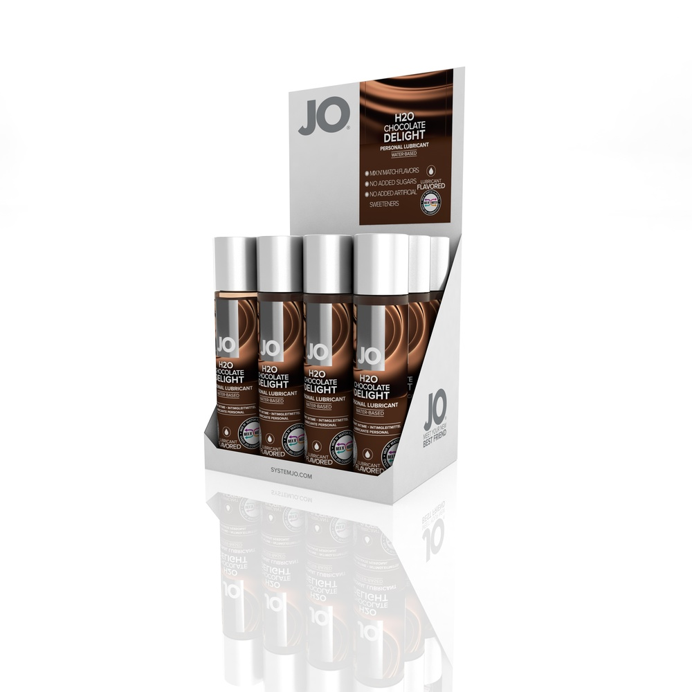 10124 - JO H2O FLAVORED LUBRICANT - CHOCOLATE DELIGHT - 1fl.oz 30mL (MOQ 12 units - Includes Counter Display).jpg